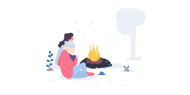 Campfire - credits to UnDraw.co